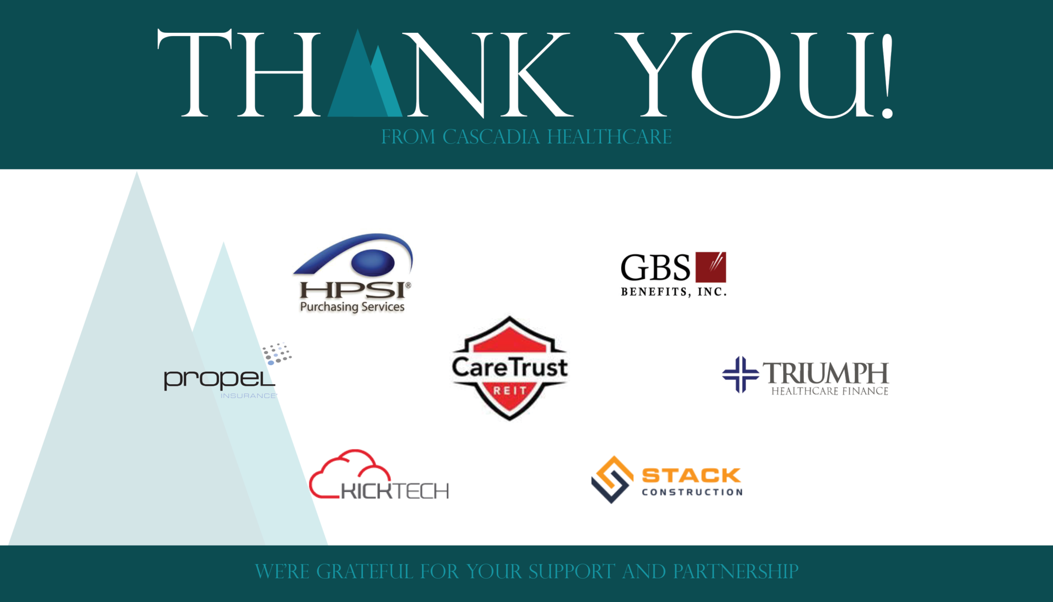 Thank you to all of our partners!